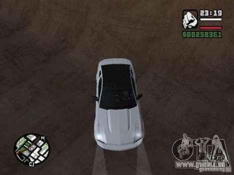 Ford Mustang GT B&W pour GTA San Andreas vue arrière