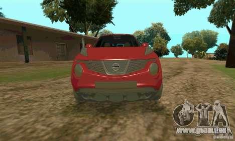 Nissan Juke pour GTA San Andreas vue de droite