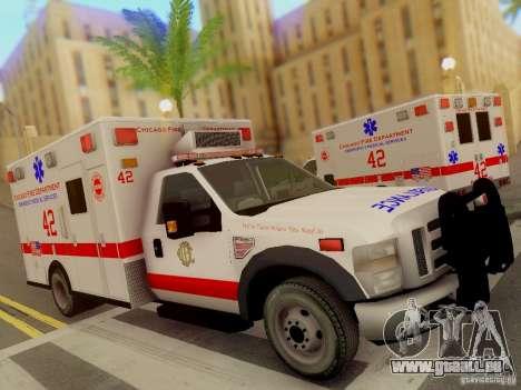 Ford F350 Super Duty Chicago Fire Department EMS für GTA San Andreas