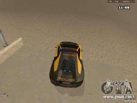 Lamborghini Aventador LP700-4 Police pour GTA San Andreas vue arrière