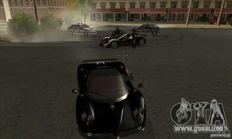 Pagani Zonda F Speed Enforcer BETA pour GTA San Andreas vue intérieure
