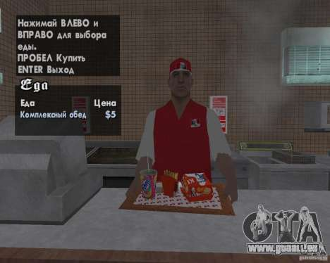 Nouvelles textures, des restaurants et des bouti pour GTA San Andreas cinquième écran