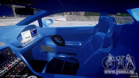 Lamborghini Gallardo LP560-4 Polizia pour GTA 4 est une vue de l'intérieur