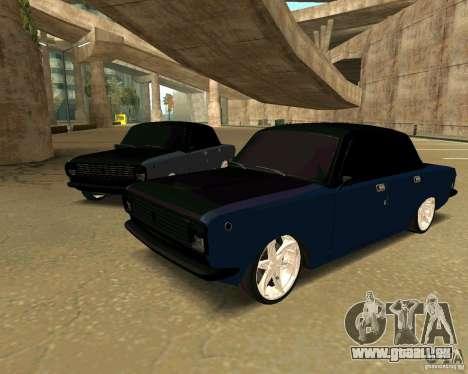 GAZ 24 für GTA San Andreas zurück linke Ansicht