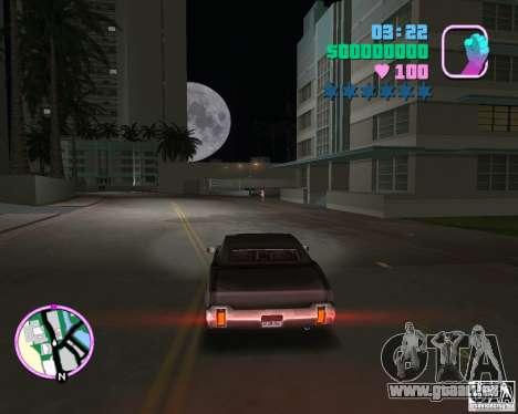 Nouveau Sabre pour GTA Vice City sur la vue arrière gauche