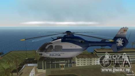 Eurocopter Ec-135 Politia Romana pour GTA Vice City sur la vue arrière gauche