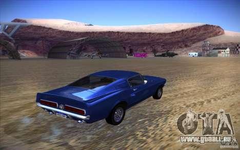 Shelby GT500 1967 pour GTA San Andreas laissé vue