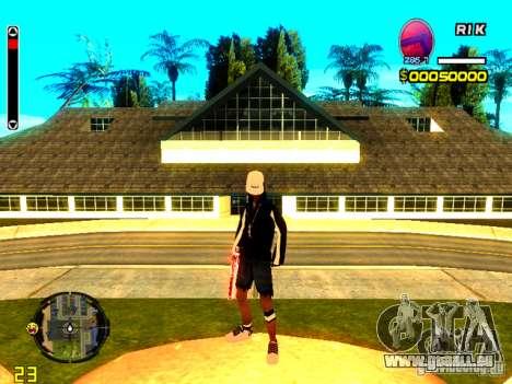 Peau bum v8 pour GTA San Andreas quatrième écran