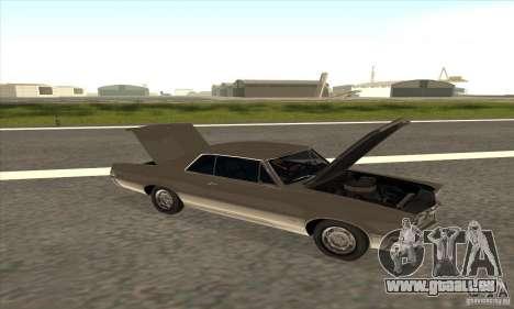 Pontiac GT-100 für GTA San Andreas Rückansicht