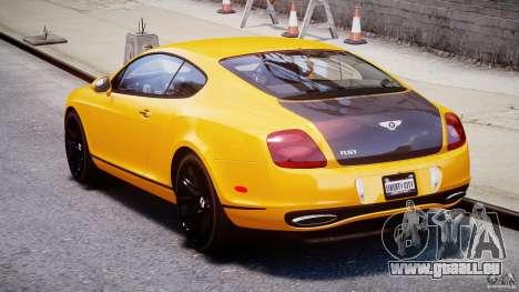 Bentley Continental SS 2010 ASI Gold [EPM] pour GTA 4 est un côté