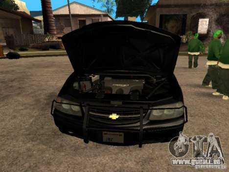 Chevrolet Impala Undercover pour GTA San Andreas vue de droite