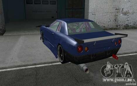 Elegy MS R32 pour GTA San Andreas vue de dessus