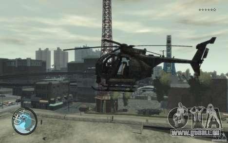 AH-6 Little Bird AcuDigital Camo pour GTA 4 Vue arrière de la gauche