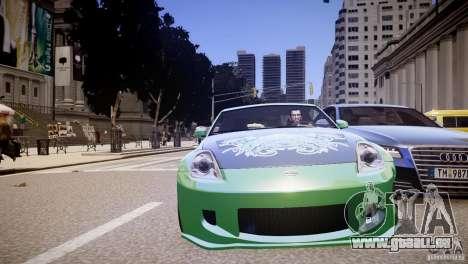 Nissan 350Z Underground 2 Style pour GTA 4 est un côté
