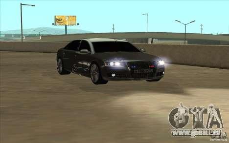 Audi A8l W12 6.0 pour GTA San Andreas sur la vue arrière gauche