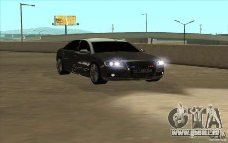 Audi A8l W12 6.0 für GTA San Andreas zurück linke Ansicht