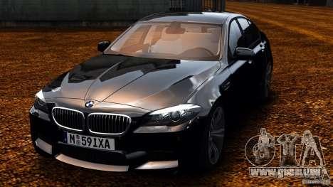 BMW M5 F10 2012 pour GTA 4 Vue arrière
