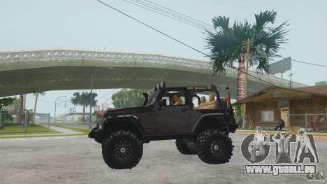 Jeep Wrangler Off road v2 pour GTA San Andreas vue de droite