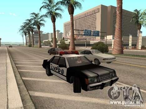 LVPD Police Car pour GTA San Andreas laissé vue