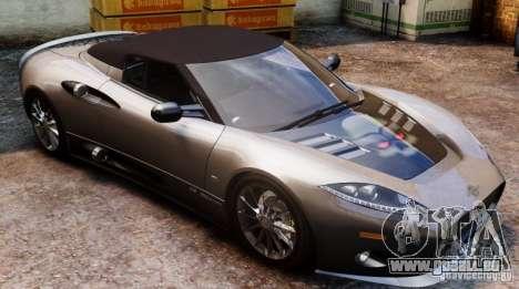 Spyker C8 Aileron Spyder Final pour GTA 4 Vue arrière