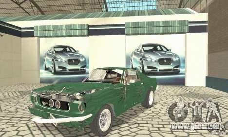 Ford Mustang Fastback 1967 pour GTA San Andreas vue de côté