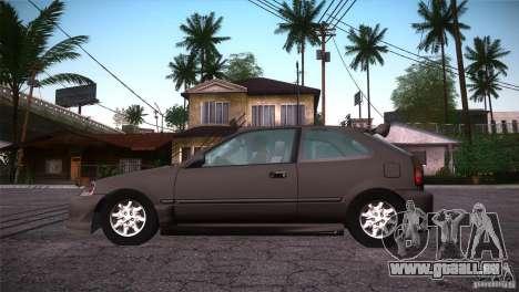 Honda Civic Tuneable pour GTA San Andreas vue de dessus
