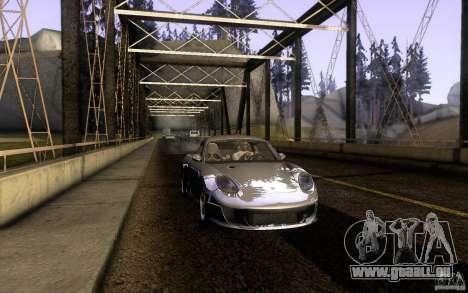 Ruf RK Coupe V1.0 2006 pour GTA San Andreas sur la vue arrière gauche