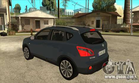 Nissan Qashqai 2011 für GTA San Andreas zurück linke Ansicht