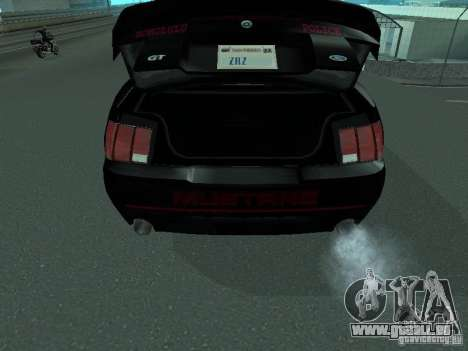 Ford Mustang GT Police pour GTA San Andreas vue arrière