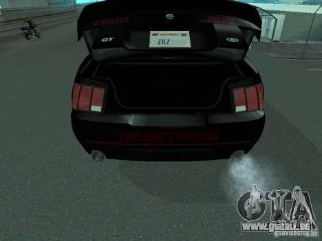 Ford Mustang GT Police für GTA San Andreas Rückansicht