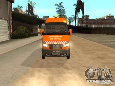 Gazelle 2705 Highway patrol für GTA San Andreas zurück linke Ansicht