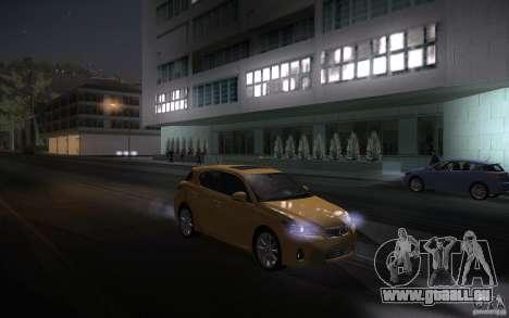 Lexus CT200H 2011 für GTA San Andreas Innenansicht