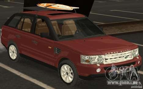 Land Rover Range Rover 2007 pour GTA San Andreas sur la vue arrière gauche