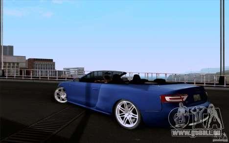 Audi S5 Cabriolet 2010 pour GTA San Andreas laissé vue