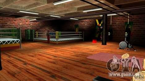Salle de gym pour GTA San Andreas deuxième écran