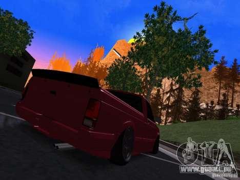 GMC Syclone Drift pour GTA San Andreas sur la vue arrière gauche