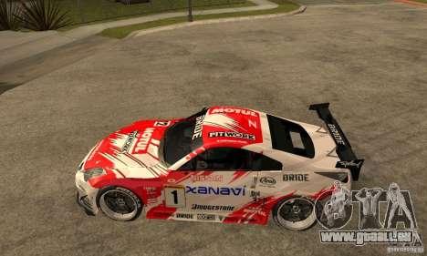 Nissan 350Z Xanavi pour GTA San Andreas laissé vue
