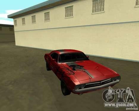 Dodge Challenger 1971 TeamGo pour GTA San Andreas vue de droite