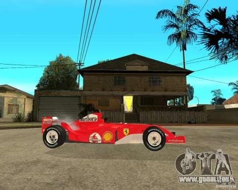 Ferrari F1 pour GTA San Andreas vue de droite