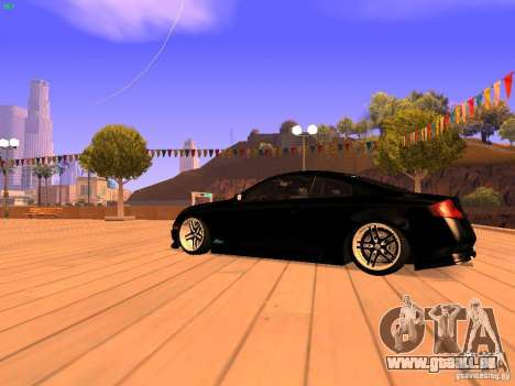 Infiniti G35 V.I.P pour GTA San Andreas sur la vue arrière gauche