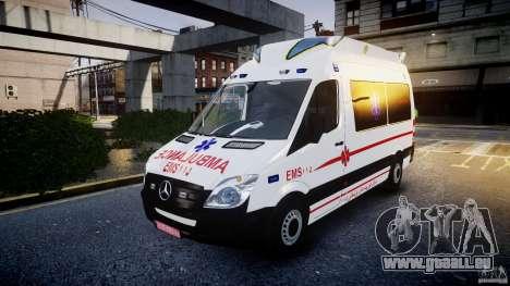 Mercedes-Benz Sprinter Iranian Ambulance [ELS] pour GTA 4