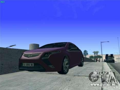 Opel Ampera 2012 für GTA San Andreas Innenansicht