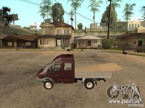 GAZ 33023 pour GTA San Andreas laissé vue