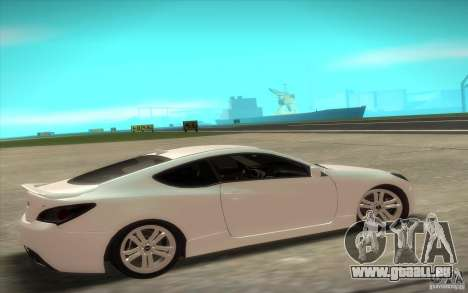 Hyundai Genesis 3.8 Coupe pour GTA San Andreas sur la vue arrière gauche