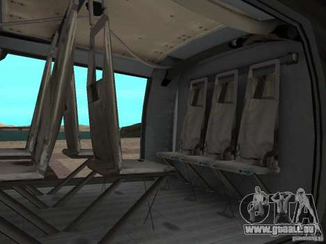 L'hélicoptère du CoD 4 MW pour GTA San Andreas sur la vue arrière gauche