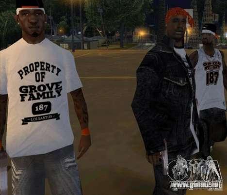 Bandes de remplacement, tatouages, vêtements, et pour GTA San Andreas douzième écran