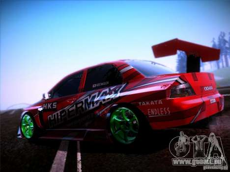 Mitsubishi Lancer Evolution 9 Hypermax für GTA San Andreas linke Ansicht