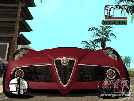 Alfa Romeo 8C Competizione v.2.0 für GTA San Andreas rechten Ansicht