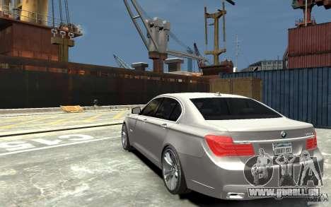 BMW 750i F01 v3 pour GTA 4 Vue arrière de la gauche