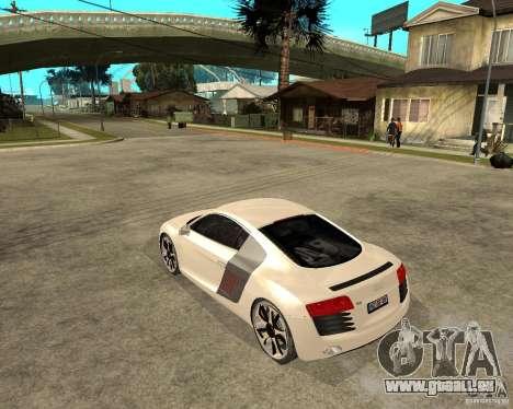 Audi R8 light tunable pour GTA San Andreas laissé vue